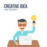 Nuevo concepto creativo de la idea Ejemplo plano del vector libre illustration