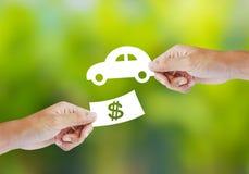 Nuevo concepto de la compra del coche Fotografía de archivo libre de regalías