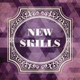 Nuevo concepto de las habilidades. Diseño del vintage. Fotos de archivo libres de regalías