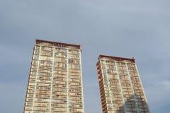 Nuevo condominio del edificio imagenes de archivo