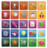 Nuevo conjunto con 56 iconos coloridos Fotos de archivo libres de regalías
