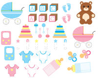 Nuevo conjunto del bebé Imágenes de archivo libres de regalías
