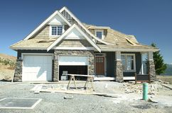 Nuevo constructor casero del apartadero de la casa Imagen de archivo