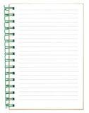 Nuevo cuaderno rayado vacío Fotografía de archivo libre de regalías