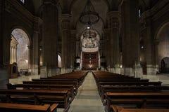 Nuevo cubo de Lérida Pasillo de la catedral Fotografía de archivo libre de regalías