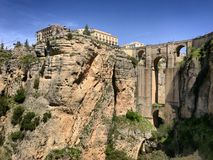 Nuevo de Ronda EN Ανδαλουσία, España Puente Στοκ εικόνες με δικαίωμα ελεύθερης χρήσης
