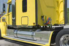 Nuevo detalle del taxi del Semi-camión Imagen de archivo libre de regalías