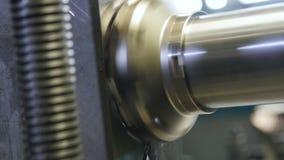 Nuevo detalle Grinded del compresor del metal del primer por la máquina almacen de metraje de vídeo