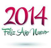 Nuevo 2014 di Feliz Año Fotografia Stock