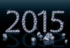 Nuevo diamante tarjeta de 2015 años Foto de archivo libre de regalías