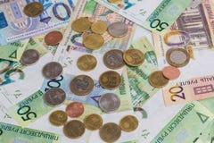 Nuevo dinero Belorussian Monedas y billetes de banco Concepto de las finanzas fotos de archivo