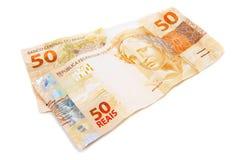 Nuevo dinero brasileño foto de archivo