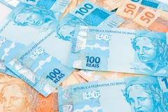 Nuevo dinero brasileño imagen de archivo