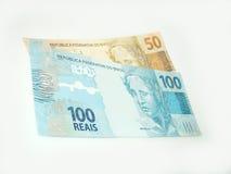 Nuevo dinero en circulación del Brasil Fotografía de archivo