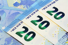 Nuevo diseño de veinte billetes de banco euro Foto de archivo libre de regalías
