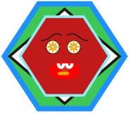Nuevo diseño hambriento de la placa ilustración del vector