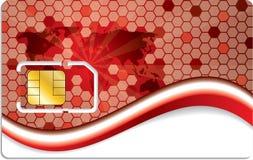 Nuevo diseño de tarjeta del sim con la correspondencia de mundo Fotografía de archivo