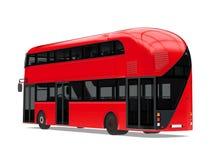 Nuevo doble Decker Bus Isolated de Londres ilustración del vector
