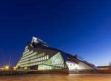 Nuevo edificio de la biblioteca nacional de Letonia Fotos de archivo