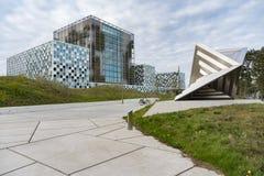 Nuevo edificio internacional del Tribunal Penal fotografía de archivo