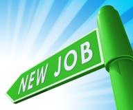 Nuevo ejemplo de Job Sign Displaying Employment 3d Fotos de archivo libres de regalías