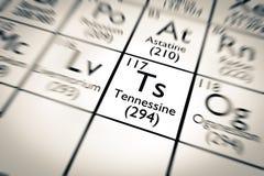¡Nuevo elemento químico descubierto! Tennessine stock de ilustración