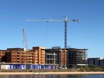 Nuevo emplazamiento de la obra de los apartamentos que es construido en Arizona foto de archivo libre de regalías