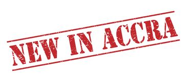 Nuevo en el sello de Accra Fotografía de archivo