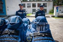 Nuevo equipo para los bomberos ucranianos Fotografía de archivo
