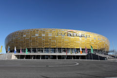 Nuevo estadio del euro 2012 en Gdansk, Polonia Imágenes de archivo libres de regalías