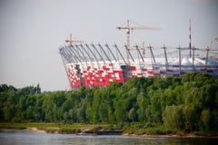 Nuevo estadio nacional construido, Varsovia Foto de archivo