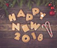 Nuevo 2018 feliz Fotografía de archivo