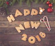 Nuevo 2018 feliz Imagen de archivo libre de regalías