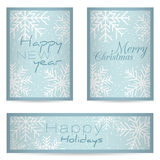 Nuevo feliz de las tarjetas de felicitación Fotografía de archivo libre de regalías