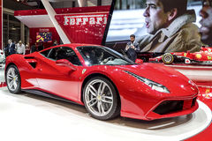 Nuevo Ferrari 488 imagen de archivo