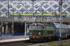 Nuevo ferrocarril en Poznán Imagen de archivo libre de regalías