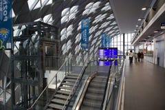 Nuevo ferrocarril en Poznán Foto de archivo