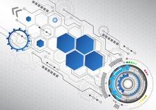 Nuevo fondo abstracto del negocio de la tecnología, ejemplo del vector Foto de archivo libre de regalías