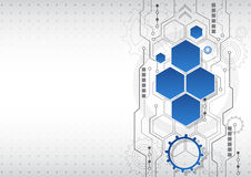 Nuevo fondo abstracto del negocio de la tecnología, ejemplo del vector Fotos de archivo