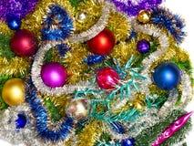 Nuevo fondo de las decoraciones de la Navidad Foto de archivo libre de regalías