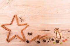 Nuevo fondo de los Yeas en una tabla de madera Fotografía de archivo libre de regalías