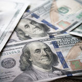 Nuevo fondo de USD Imagen de archivo libre de regalías