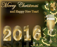 Nuevo fondo feliz de 2016 años Imagenes de archivo