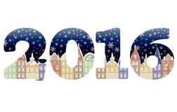 Nuevo fondo feliz de 2016 años, vector Fotografía de archivo libre de regalías