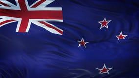 NUEVO fondo realista de la bandera de ZELAND que agita Imagen de archivo libre de regalías