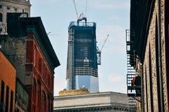 Nuevo Freedom Tower bajo construcción en Manhattan Foto de archivo