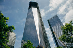 Nuevo Freedom Tower bajo construcción en Manhattan Foto de archivo libre de regalías