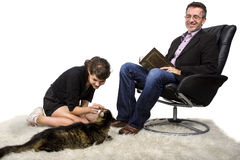 Nuevo gato del animal doméstico de la familia Fotos de archivo libres de regalías