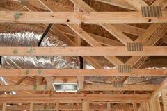 Nuevo hogar bajo construcción Imagenes de archivo