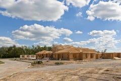 Nuevo hogar bajo construcción. Foto de archivo